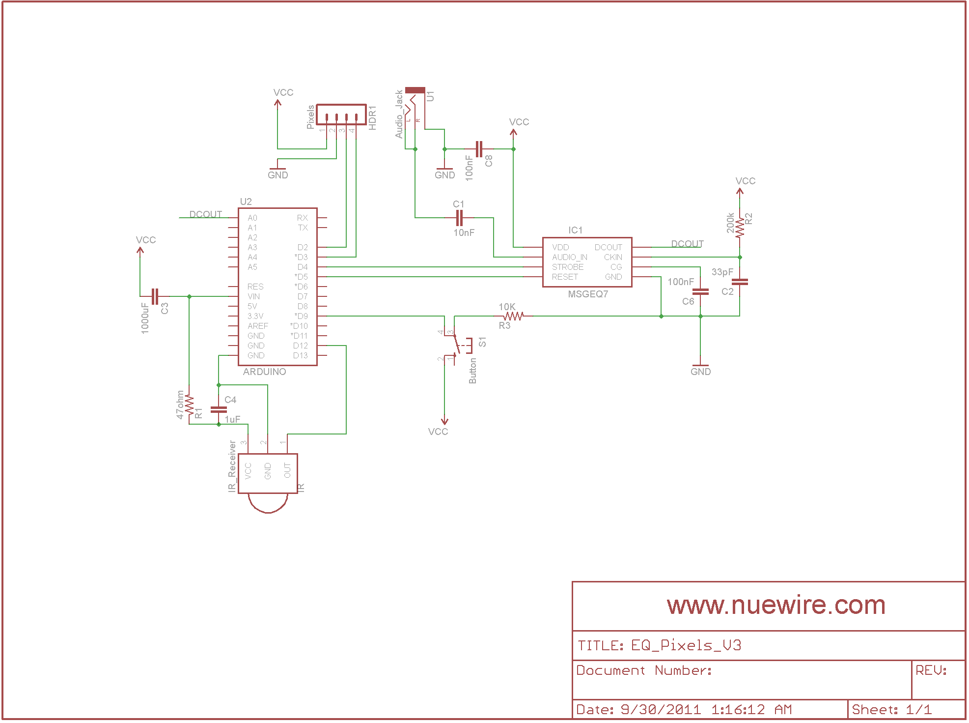 Eq Pixels Nuewire How To Build 10 Band Graphic Equalizer Circuit Diagram Schematic